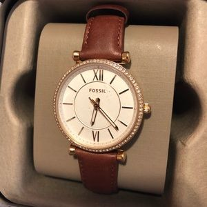 Chic Fossil watch with crystal detail - NWT